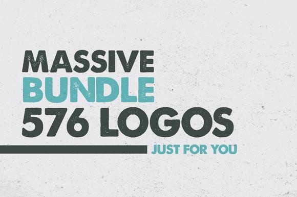MASSIVE BUNDLE 576 Vintage Logos - Logos