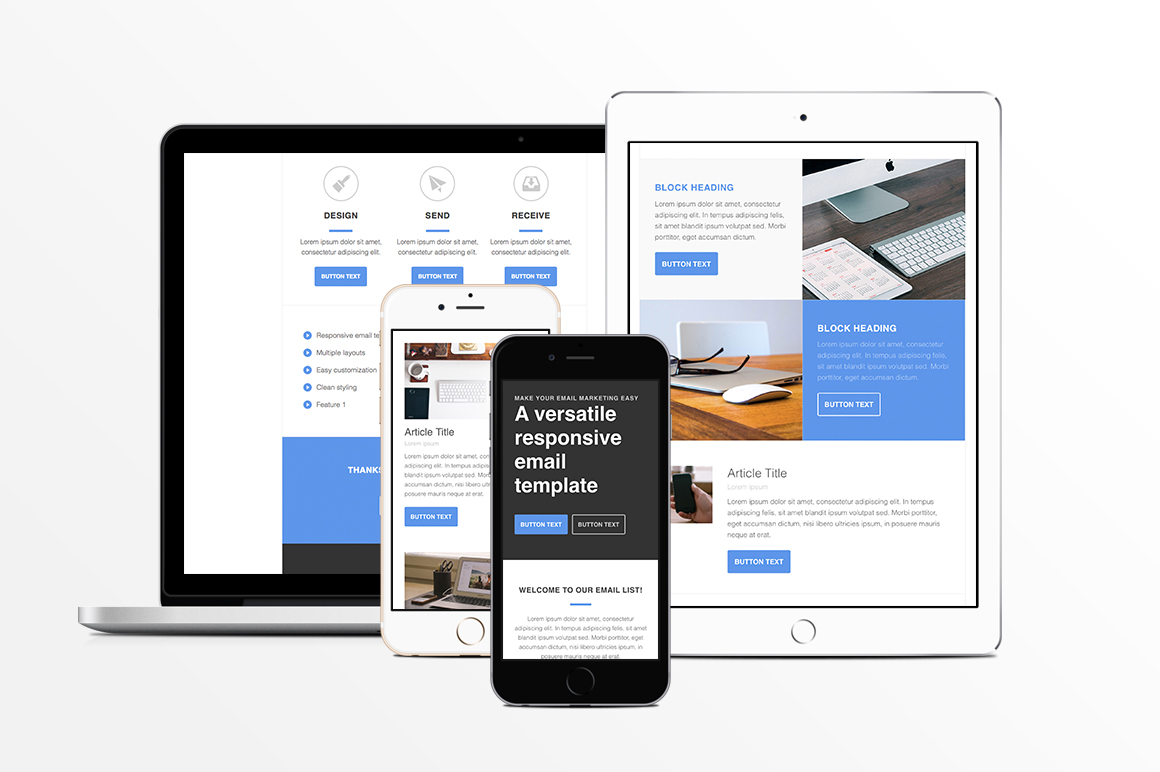 Responsive HTML Email Template ~ Email Templates on Creative Market
