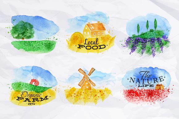 Symbolic Watercolor Fields