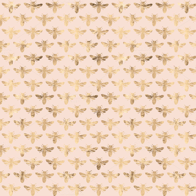 Busy Bee Rose Gold Digital Patterns ~ Patterns on Creative ...