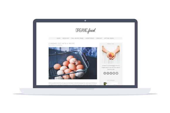 Organic Food -Wordpress Recipe Theme - Blog