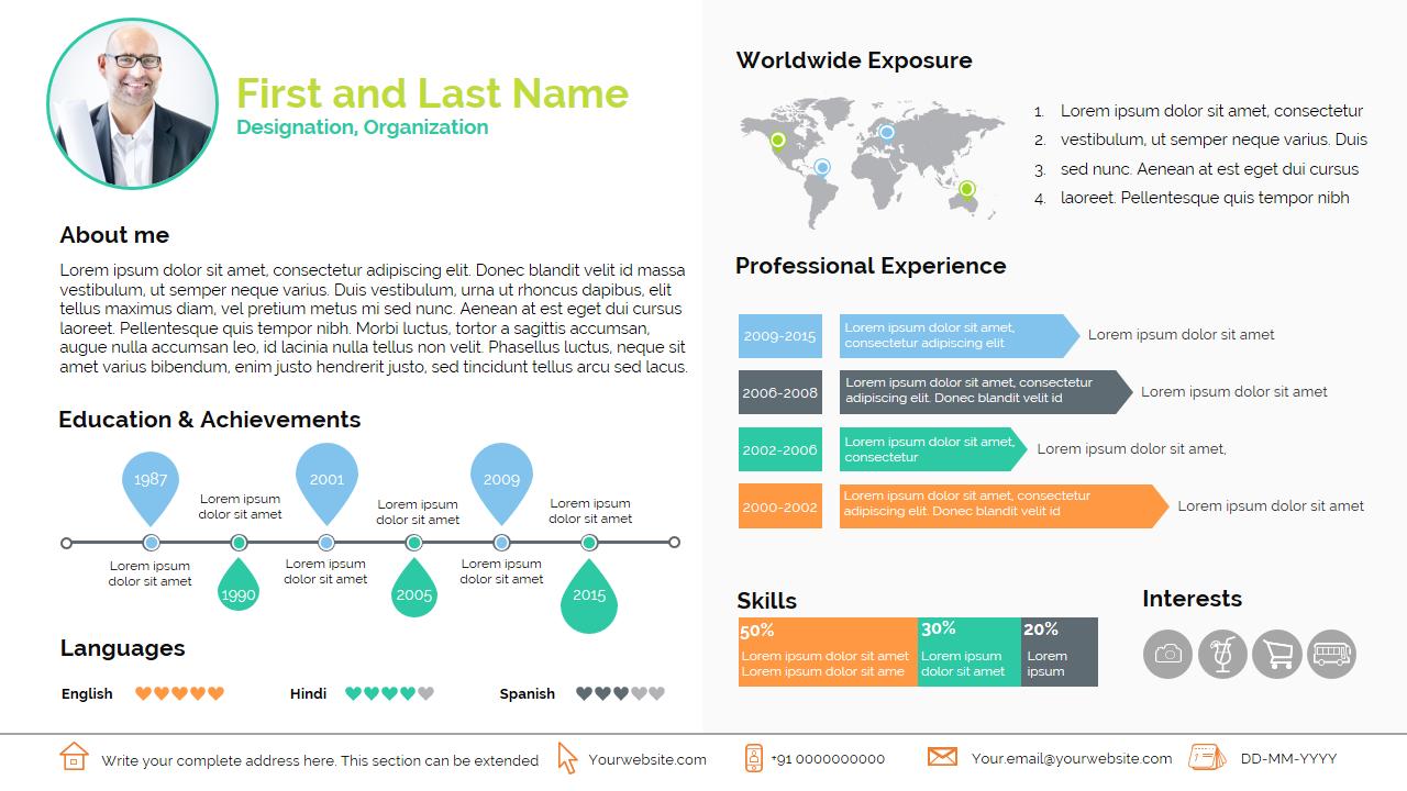 smart resume presentation templates on creative market