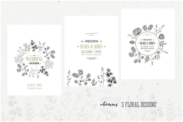 Handsketched Floral Elements Kit ~ Illustrations on
