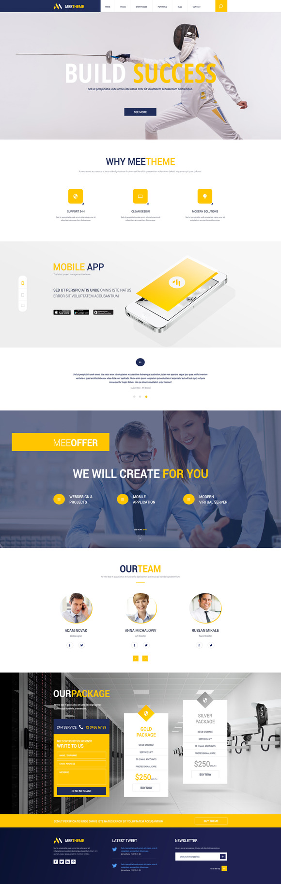 MeeTheme - 2 OnePage PSD $2!!!! - Websites - 1