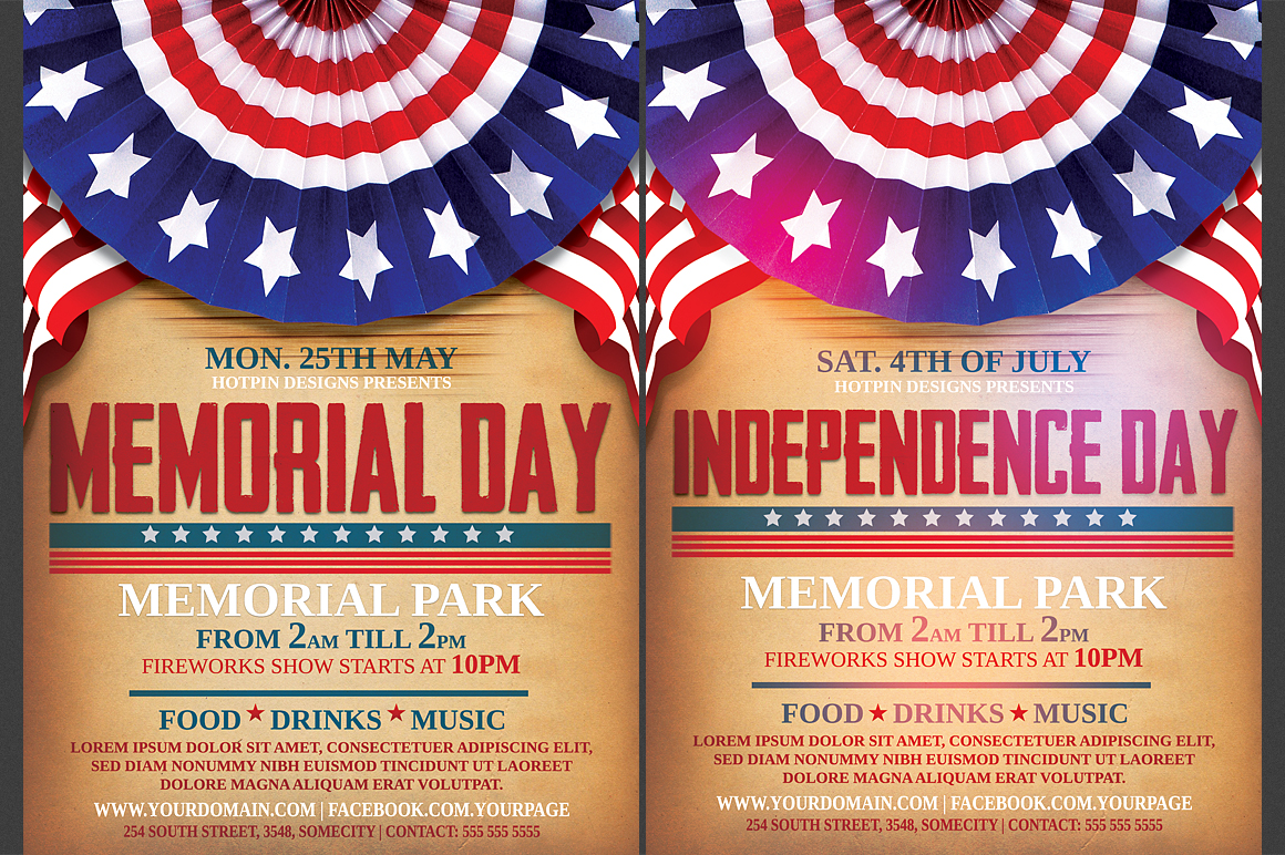independence  memorial day flyer