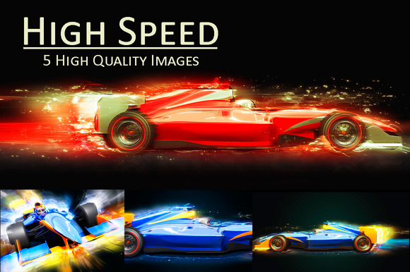 Formula One Car With Light Effect