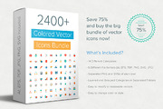 2400+ Colored Vector Icons -Graphicriver中文最全的素材分享平台