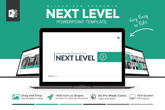 creativemarket next level powerpoint template 263297 other templates