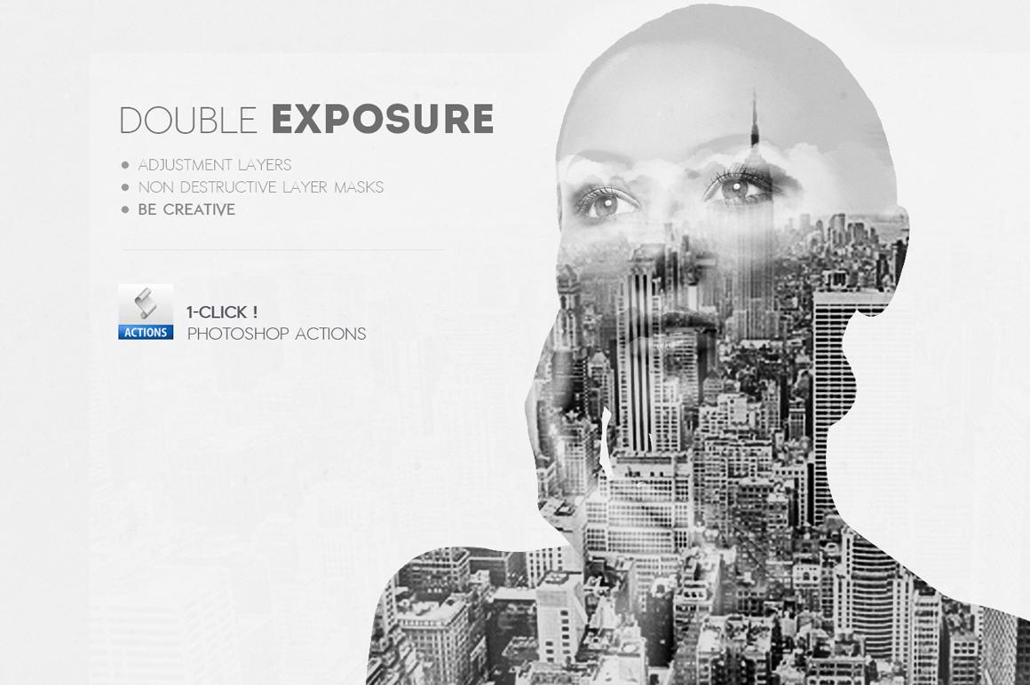 Double Exposure Photoshop Creator Add Ons On Creative Market