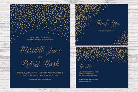confetti wedding invitation invitation templates on. Black Bedroom Furniture Sets. Home Design Ideas