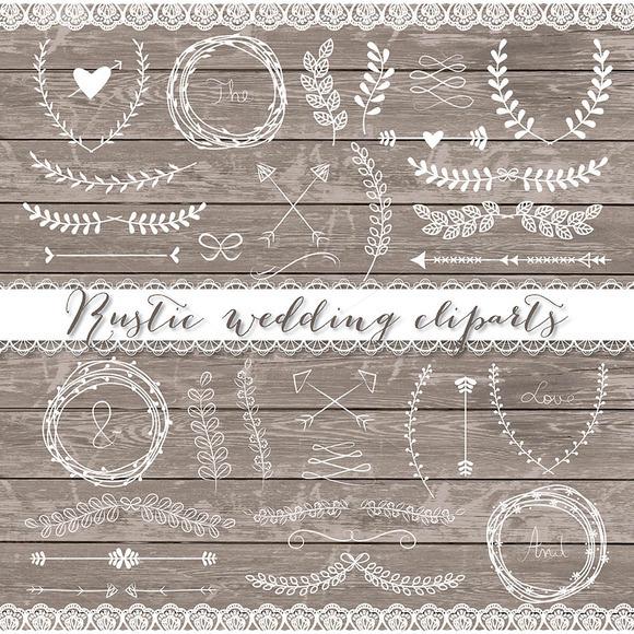Vector Rustic Wedding Cliparts Illustrations On Creative Market