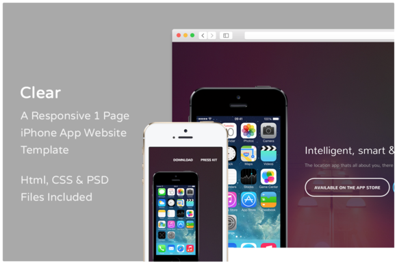 Clear - iPhone App Website Template - Websites - 1