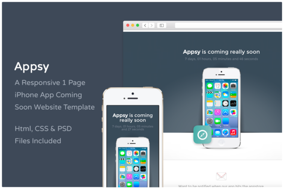 Appsy - Coming Soon Website Template - Websites - 1