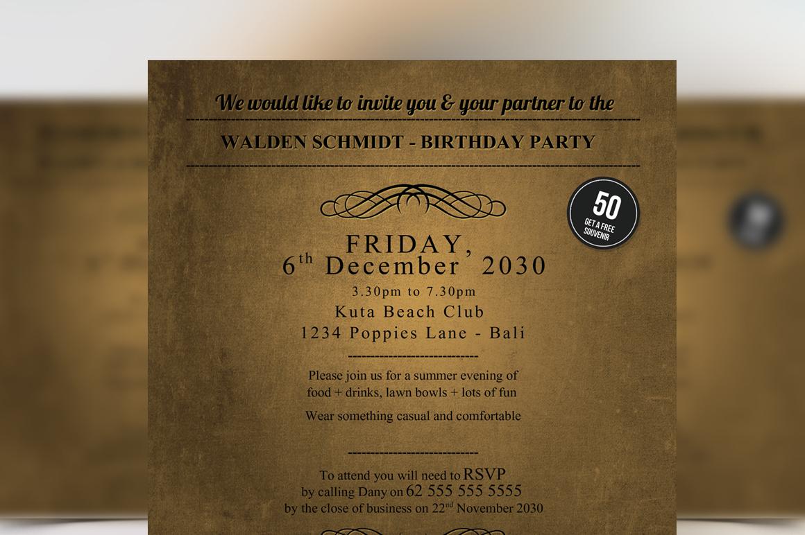Golden Ticket Birthday Invitation ~ Flyer Templates on ...