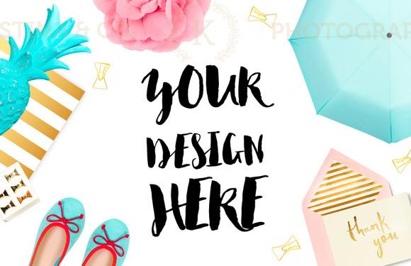 Mockup desktop. Style photography - Product Mockups