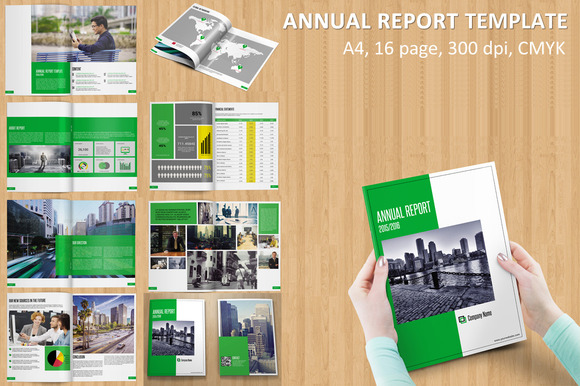 InDesign: Annual Report template