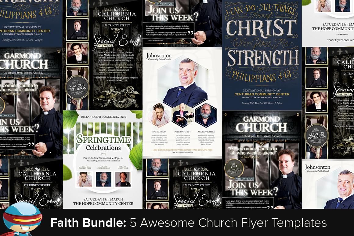 Flyerheroes faith bundle 1 flyer templates on creative market for Flyerheros