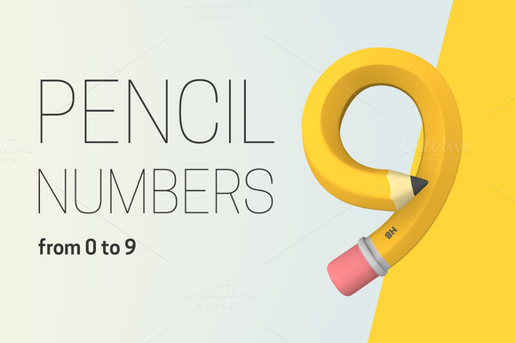 Set Of Pencil Numbers