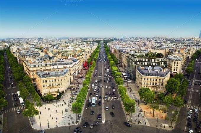 Paris the capital of france architecture photos on creative market - H m avenue de france ...