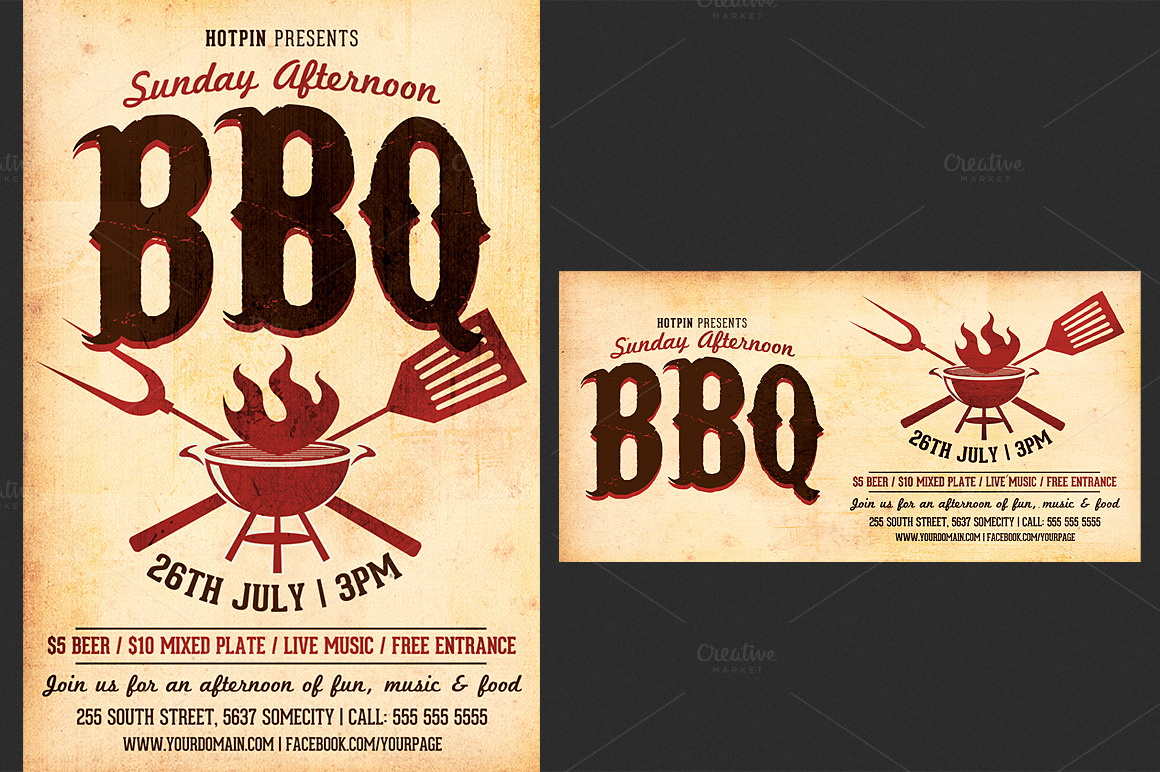 bbq flyer template teamtractemplate s barbecue bbq flyer template flyer templates on creative market v9qvwtmu