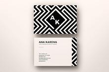 Maze Business Card Template