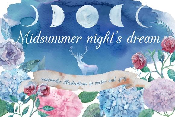 Midsummer Night S Dream Illustrations On Creative Market