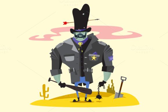 Wild West Sheriff Cartoon