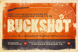 BUCKSHOT Vector Type Effects