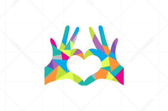 hands heart love logo logo templates on creative market