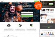 Myra - Landing Page PSD Tem-Graphicriver中文最全的素材分享平台