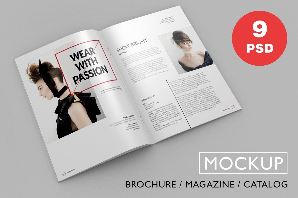 Brochure Magazine Psd Mock Ups Product Mockups On