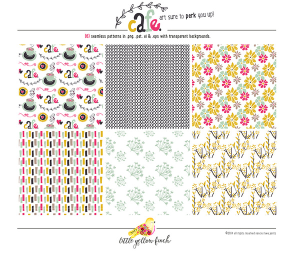 Cafe Seamless Patterns