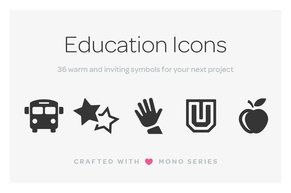 Mono Icons Education