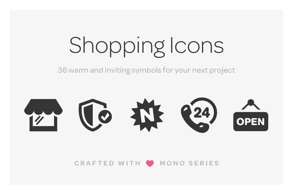 Mono Icons Shopping