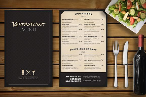 Restaurant Menu Mockup - Product Mockups - 1