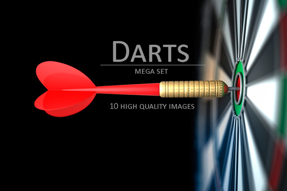 Darts Arrow In Bull S-eye