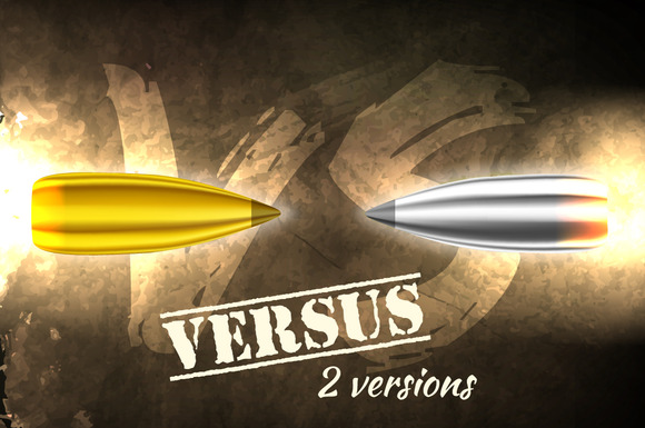 2 ver. of Flying bullet in versus - Illustrations