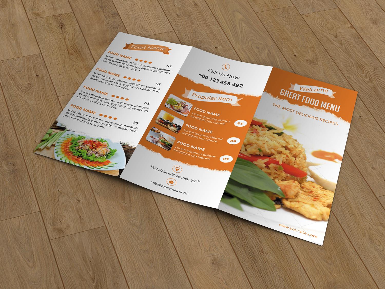 restaurant menu v120 brochure templates on creative market