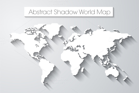 Abstract Shadow World Map