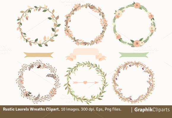 Rustic Laurel Wreaths