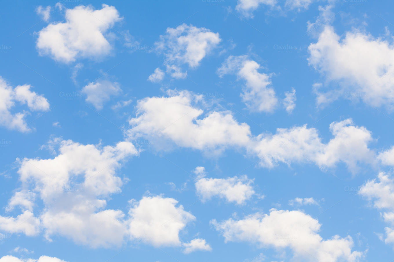Blue Sky With Clouds Wallpaper 56 Images: Photos On Creative Market