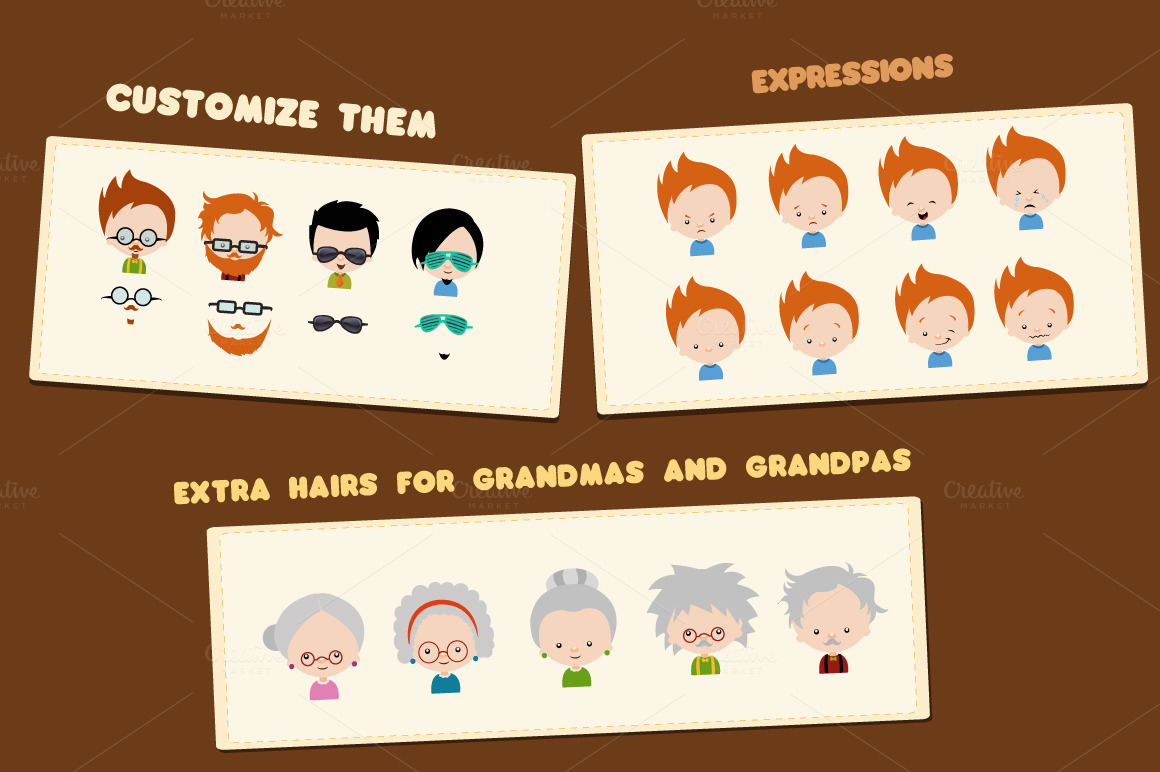 Character Design Kit : Character design kit illustrations on creative market
