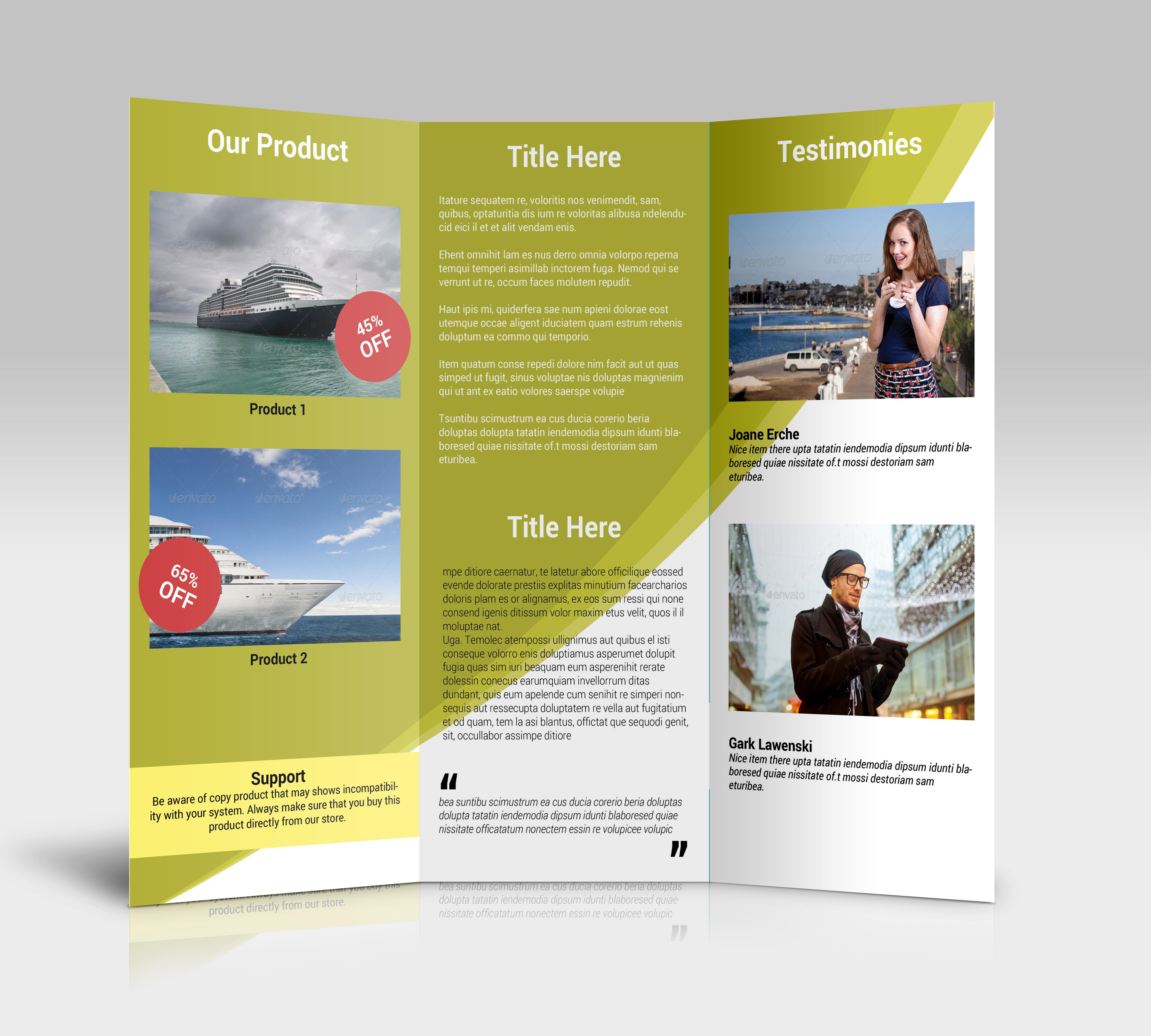 Product Tri Fold Brochure