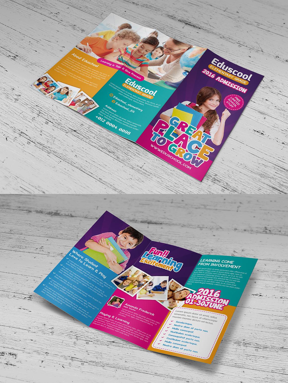 Elementary school education trifold brochure templates for Elementary school brochure template