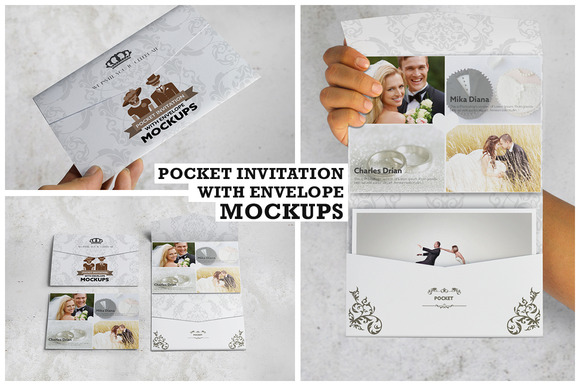 Invitation Envelope Mockups