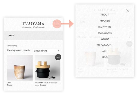 Fujiyama - Simple WooCoomerce theme