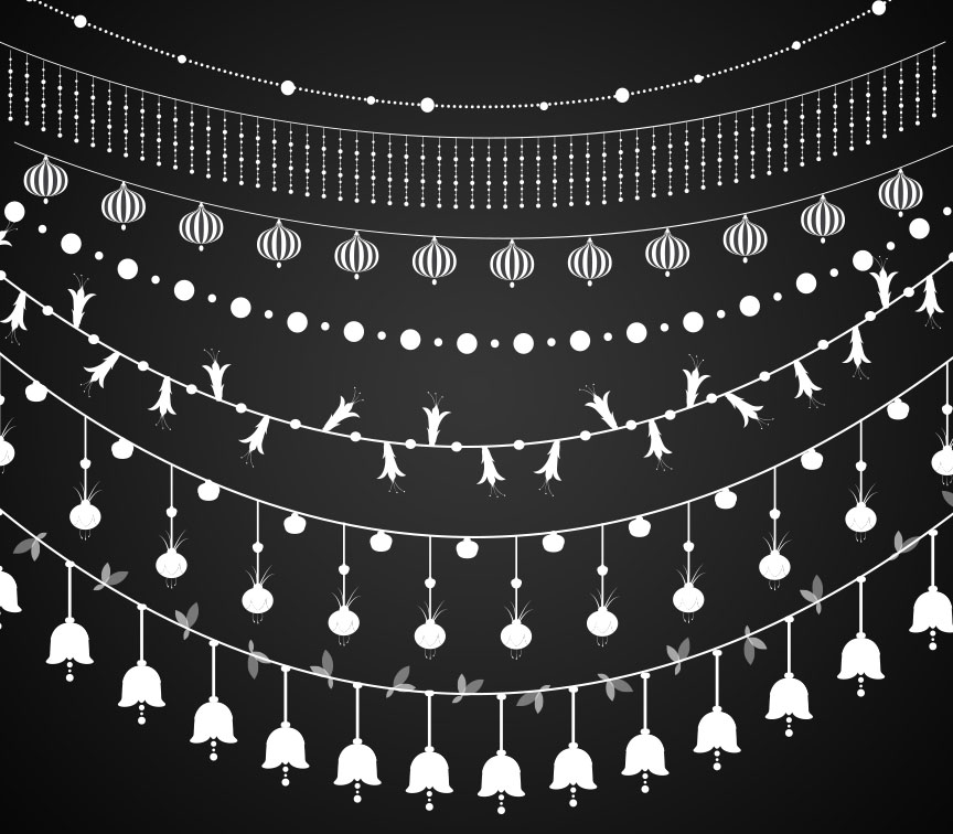 Chandeliers String Lights Vectors ~ Illustrations on Creative Market