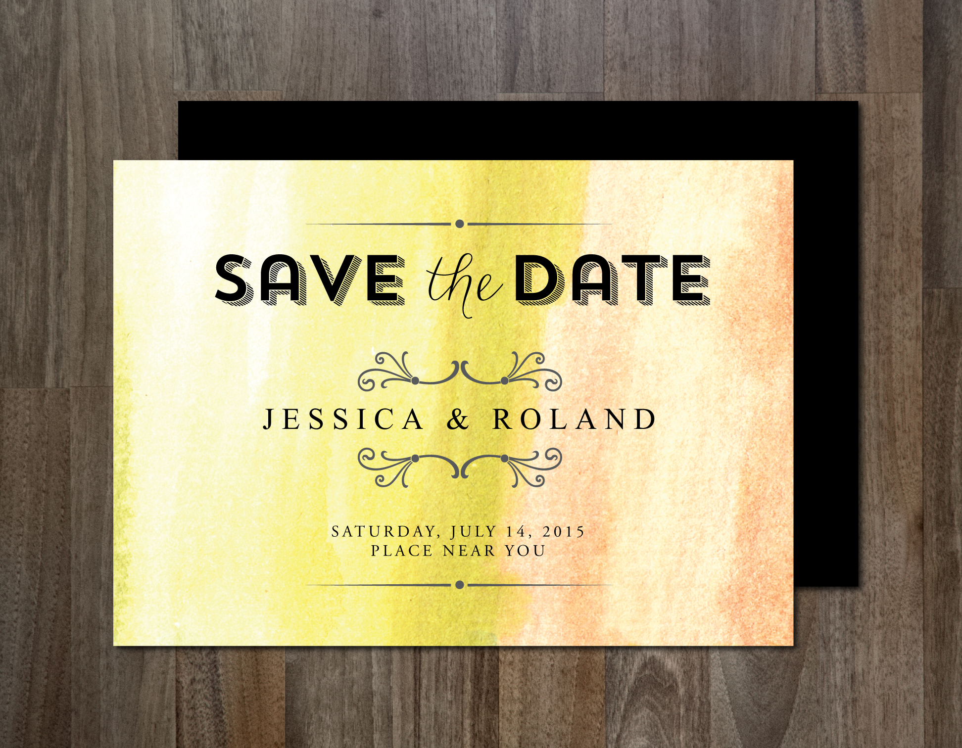 save the date invitation invitation templates on creative market. Black Bedroom Furniture Sets. Home Design Ideas