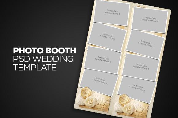Photobooth Psd Wedding Template Templates On Creative Market