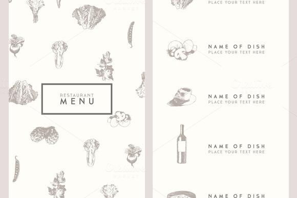 Trendy restaurant menu design ~ Flyer Templates on